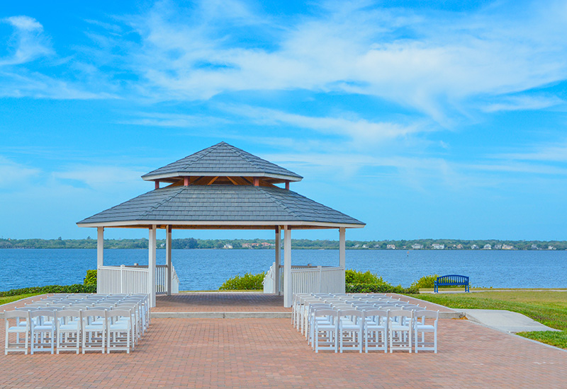 A gazebo at Veterans Memorial Park in Oldsmar, Florida